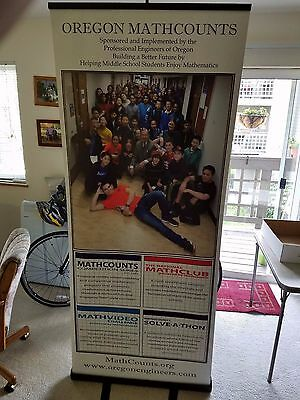 "Roll Up Banner Stand Retractable 33""x82"" Trade Show Sign Signage Display w/ Bag"
