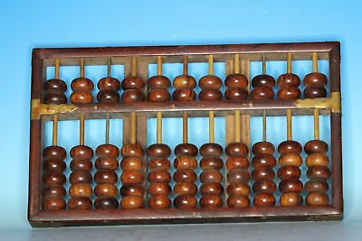 Fine Chines Antique Lotus Brand Wood Abacus Republic China