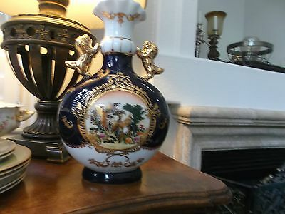 VERY IMPRESSIVE FRENCH LIMOGES LARGE VASE GOLD LIONS-HANDLES Gold Raised Decore