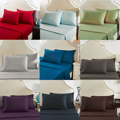 Solid Bed Twin Full Queen King Bedding Pillowcase Cover Standard Pillow Cases