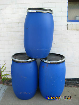 60 Litre Plastic Water Drums   (not for drinking water)   3 in total (3 for $32)