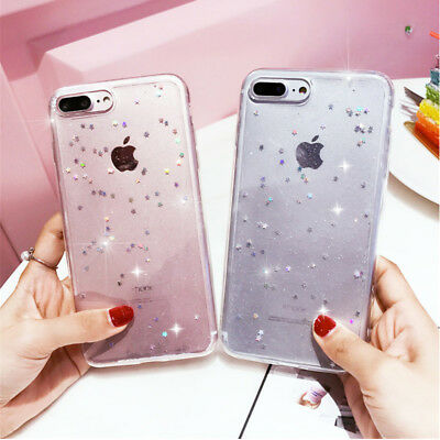 For Apple iPhone Xs Max Xr 8Plus Bling Glitter Sparkly Soft Gel Phone Cover Case