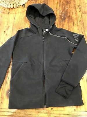 Youth/boys Adidas Black Jumper/hoodie/Top Size 10-11 Yrs