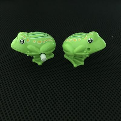 Plastic Children For Kids Clockwork Toy Classic Toys Jumping Frog Wind Up Toy