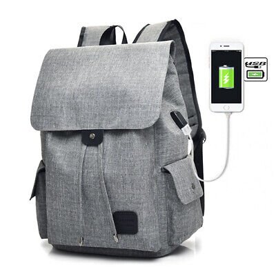Casual Tech2Go - Durable Polyester Laptop Backpack  with USB Charging Port Gray