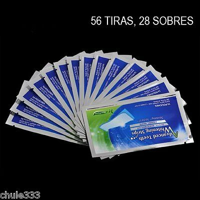 Advanced Teeth Whitening Strips 56 Tiras. 28 Sobres Blanqueamiento Total