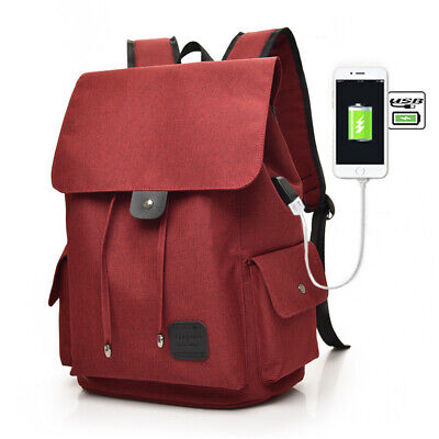 Casual Tech2Go - Durable Polyester Laptop Backpack with USB Charging Port Red