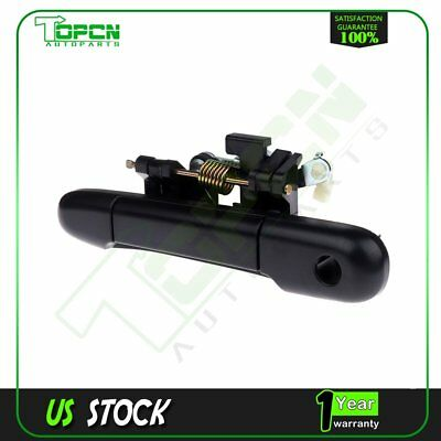 Front Left Outside Door Handle Textured Black for 91-94 Toyota Tercel