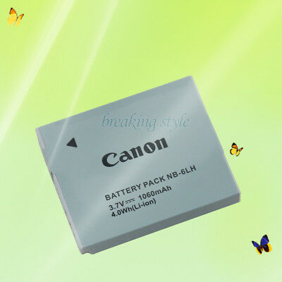 New Replacement Battery For Canon NB-6LH 3.7V, 1060mAh 4.0Wh (Li-ion)