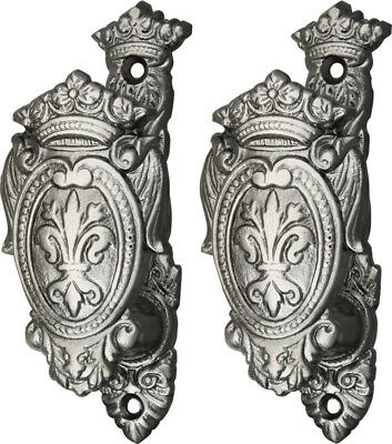 "203306 Fleur De Lis Shield Gun And Sword Holder 4"" High (Set Of 2)"