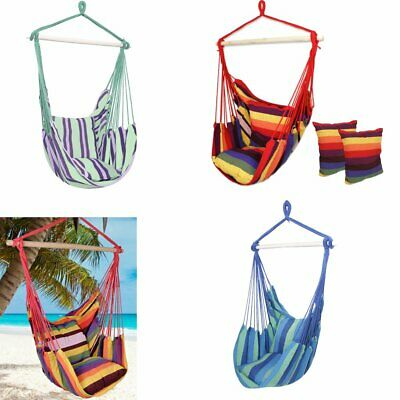 Hanging Rope Chair Swing Hammock Outdoor Porch Patio Yard  Camping Portable Seat