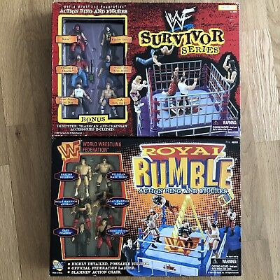 Survivor Series Royal Rumble Action Figures &Ring Playset
