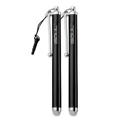 2x Micro-Fiber Capacitive Stylus Touch Screen Pen for All Mobile Phones, Tablet