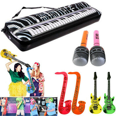Inflatable Musical Electronic Keyboard/Microphone/Guitar Blow Up Birthday Party