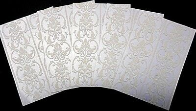 TIFFANY PERLE - Cristina Re Luxury Flocked Paper x 5 ~ 15cm x 10.5cm
