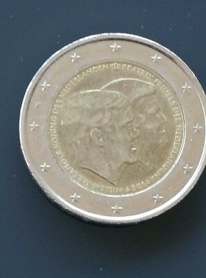2 Euro Niederlande 2014, Doppelportrait - Willem-Alexander & Beatrix in
