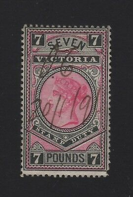 7 Pound Stamp Duty Stamp -  Rosine and Black 1889