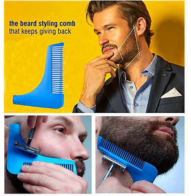 Men Beard Shaper Comb Styling Tool Trimming Line Beards Device Hair Care