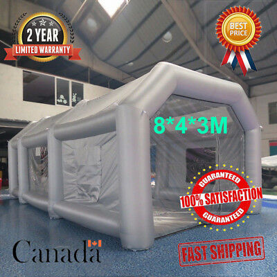 26FT Spray Paint Booth Inflatable Paint Tent Giant Car Workstation Custom Filter