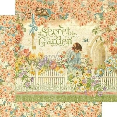 SALE Graphic 45 Secret Garden 12 x 12 Paper Set