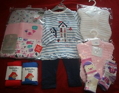 Baby Girl's 6 - 9 Months NEW Clothing Bundle - FREE POST