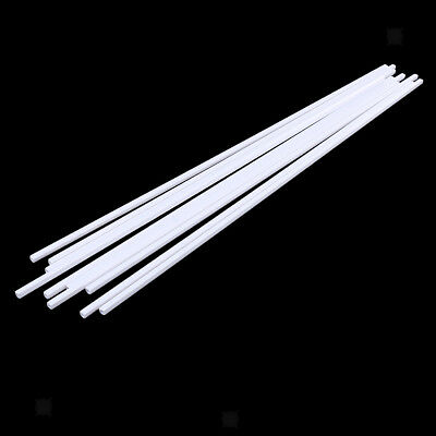 Art Craft DIY ABS Plastic Square Tube Rods 10Pcs for Model Scenery 500x4mm