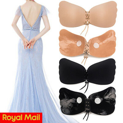 5eba1be65f7 Strapless Invisible Bra Silicone Self Adhesive Stick On Push Up Gel Bra  Backless
