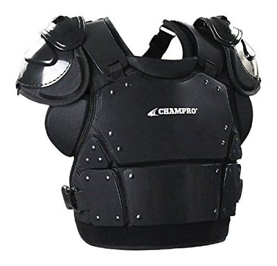 Champro Pro-Plus Plate Armor Chest Protector, Black, X-Large/15""