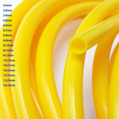 Yellow 2mm~14mm ID Food Grade Silicone Flexible Tubing High Temp Soft Hose/Pipe