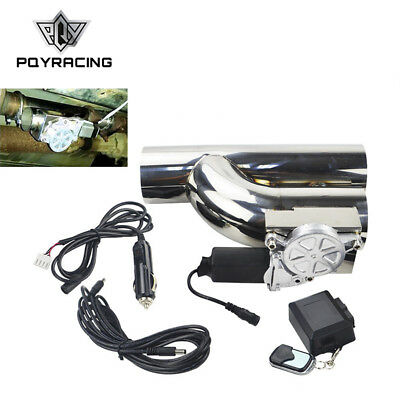 2.5 Inch Electric Exhaust Catback Downpipe Y Pipe Cut Out Valve With Remote Kit