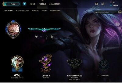 League Of Legends Account Euw All Champions 101 Skins Lvl 65