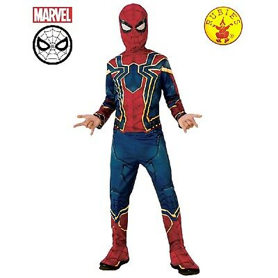 Iron Spider Avengers Infinity War Boys Costume Classic Jumpsuit Mask Spider-man
