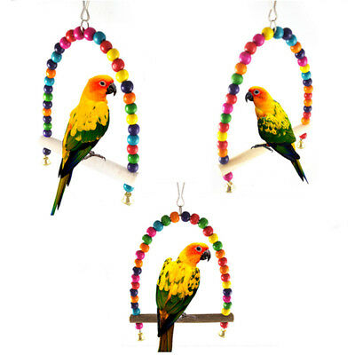 Swing Bird Toy Parrot Cage Toys Cages Parakeet Cockatiel Lovebird Budgie