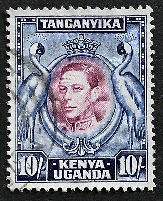 Kenya 1938-54 KGVI 10s Purple and Blue Used Stamp SG149b