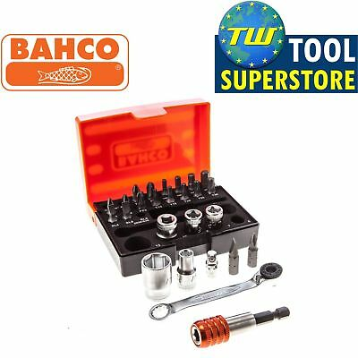 Bahco 2058/S26 1/4in Drive Metric 26pc Mini Ratchet Socket Bit Set and Holder