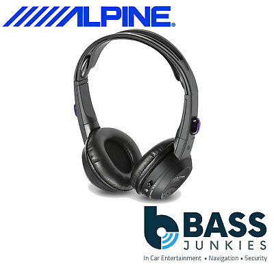 Alpine SHS-N207 Dual Source Fold Flat Wireless Headphones for PKG Monitors