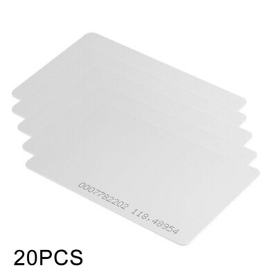 20pcs RFID 125KHz Proximity ID Cards Blank White Plastic Entry Access Card AH405
