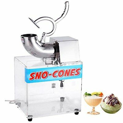 Yescom 250w 110v Stainless Steel Electric Ice Crusher Snow Cone Maker