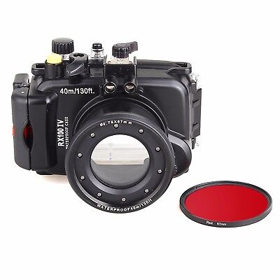 Meikon 40M/130f Underwater Camera Housing Diving Case for Sony RX100 IV RX100 M4