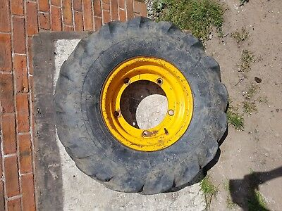 JCB front wheel rim and 12.5/80-18 tyre (SUPREME AT603)