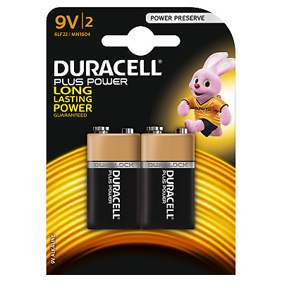 4x Duracell Plus Power  Batterie  9V  6LF22  E-Block  MN1604  2x 2er Bli.