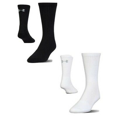 Under Armour 1298746 Men's UA Charged Cotton 2.0 Crew Socks 6 Pack Size 7-15