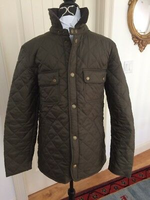 Barbour Men's Olive Green Tinford Quilted Lightweight Jacket NWT MEDIUM
