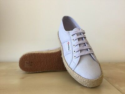 SUPERGA 2750 COTROPEU Rope Damenschuhe Canvas Trainers Trainers Trainers in Violet Lilac UK ... eb6581