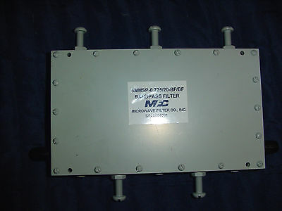 Microwave Filter Company Bandpass Filter 5MMSP-.0725/20-BF/BF