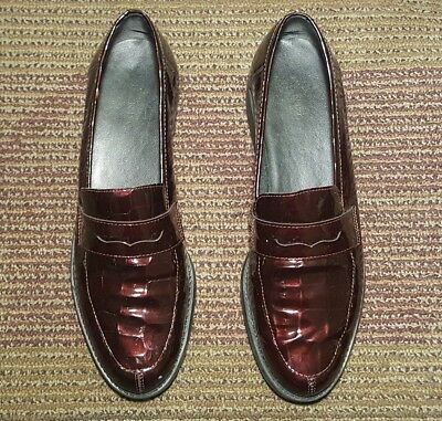 1a468830b02 New Bandolino Women Penny Loafer Us Size 8.5 N Metallic Burgundy Leather