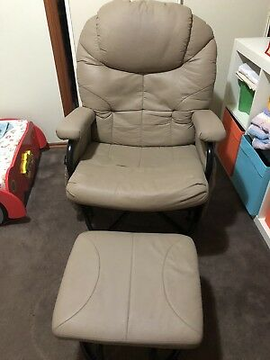 Valco baby Seville Glider Chair With Footstool Feeding Chair
