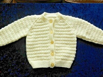 Hand Knitted Baby Cardigan in Yellow. 12-18 Months old baby.