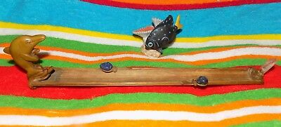 bamboo incense burner holder with dolphin Brazil