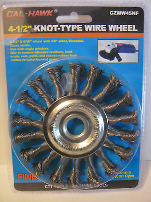 """4""""1/2'' 1 Knot-Type Wire Wheel w/ 5/8"""" arbor Use w/ Angle Grinders - Clean Welds"""